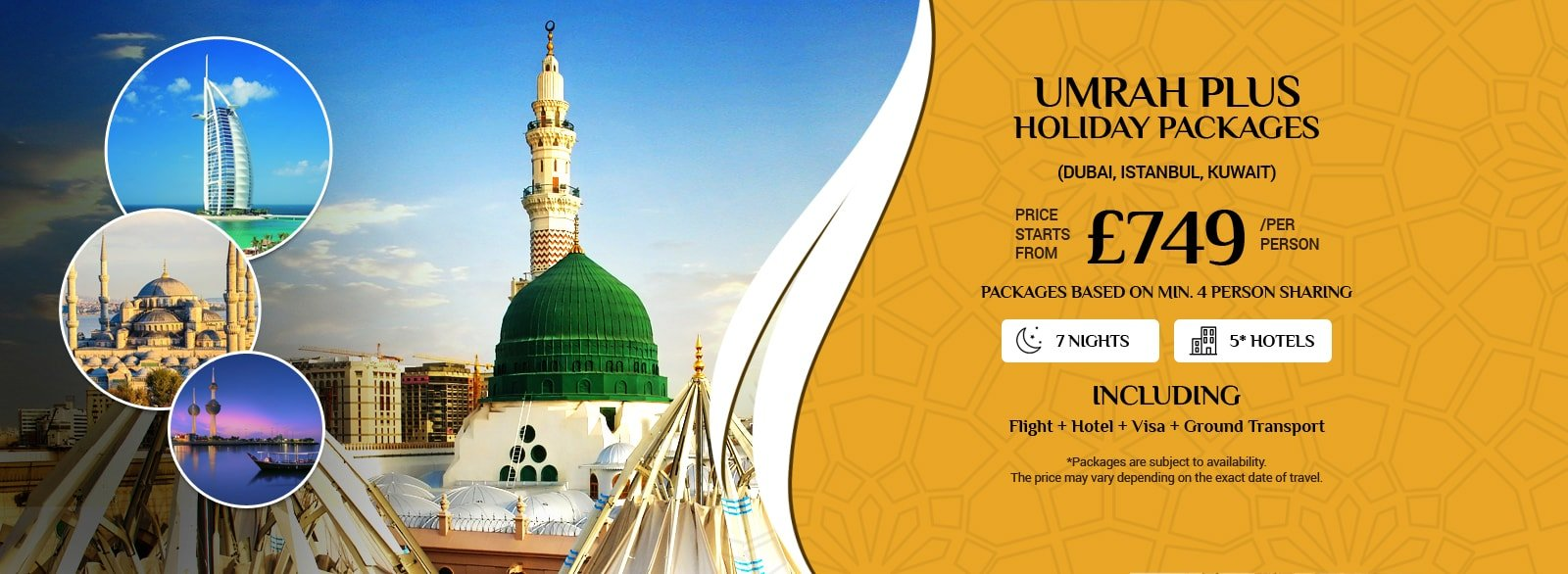 Umrah Banner: Umrah Packages All Inclusive From UK